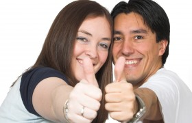 bigstock-Casual-Couple-Thumbs-Up-450716