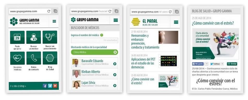 Sitio móvil Grupo Gamma