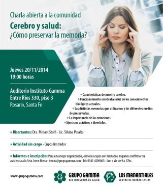 Afiche 2da. Edición Cerebro-y-Salud
