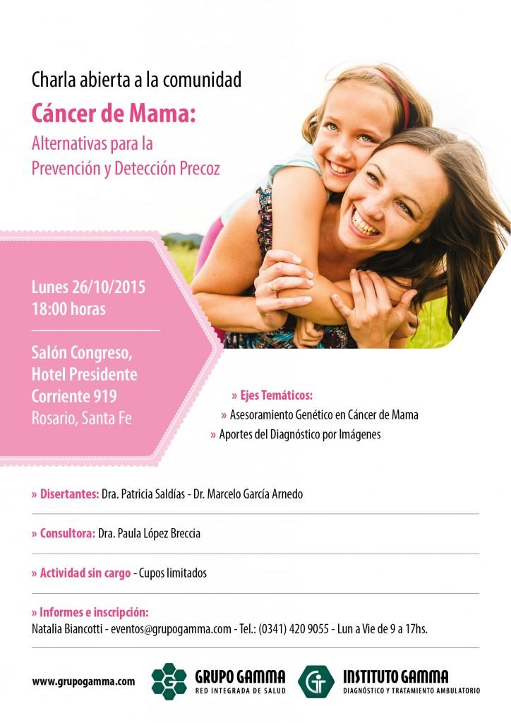 Charla a la Comunidad: Alternativas para la Prevención y Detección Precoz del Cáncer de Mama