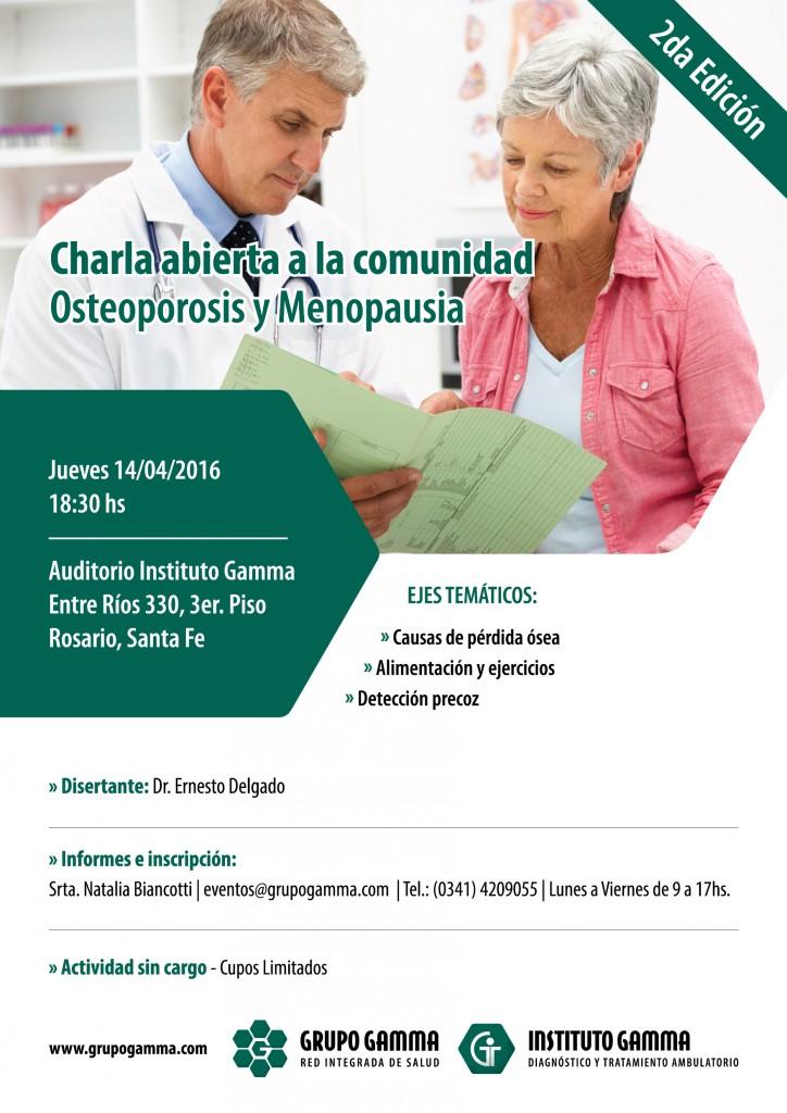 Charla Osteoporosis y Menopausia 2da. Edición