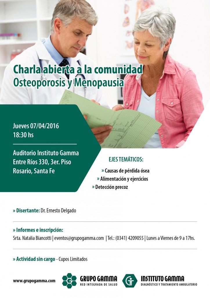 Charla a la Comunidad Osteoporosis y Menopausia