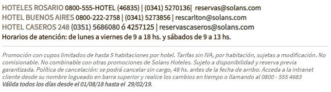 Datos Solans Hoteles - Grupo Gamma