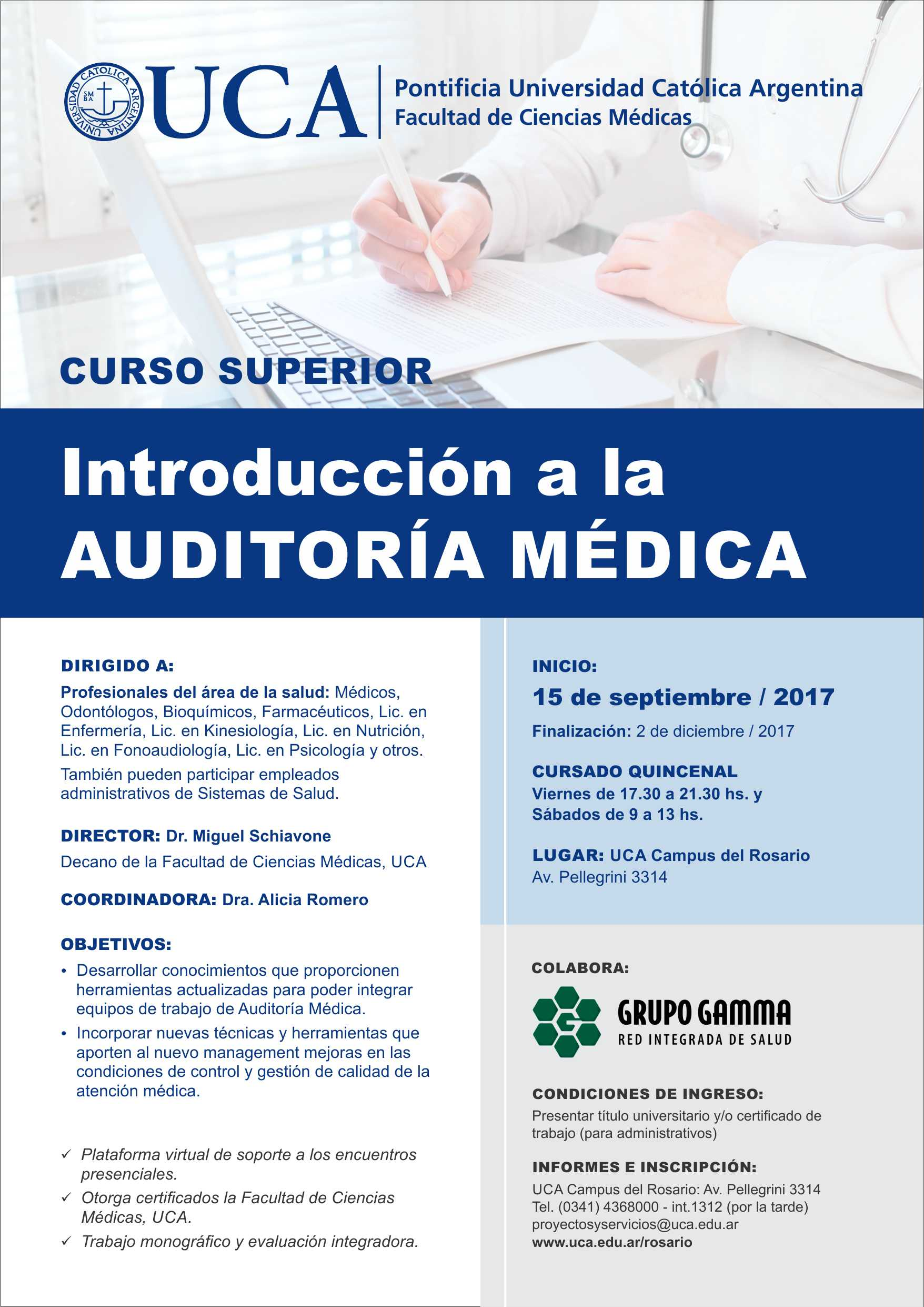 Curso Superior en Auditoría Médica | Grupo Gamma
