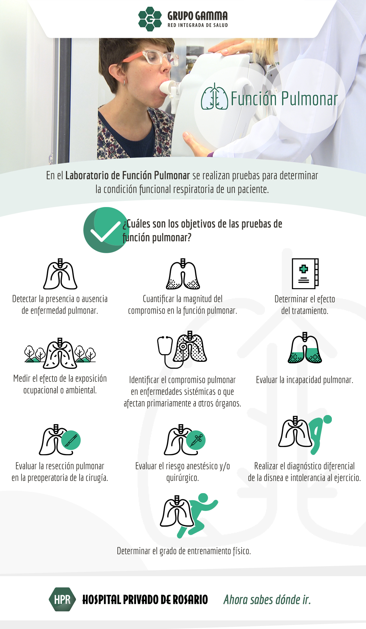 Grupo Gamma incorpora un Laboratorio de Función Pulmonar en el Hospital Privado de Rosario