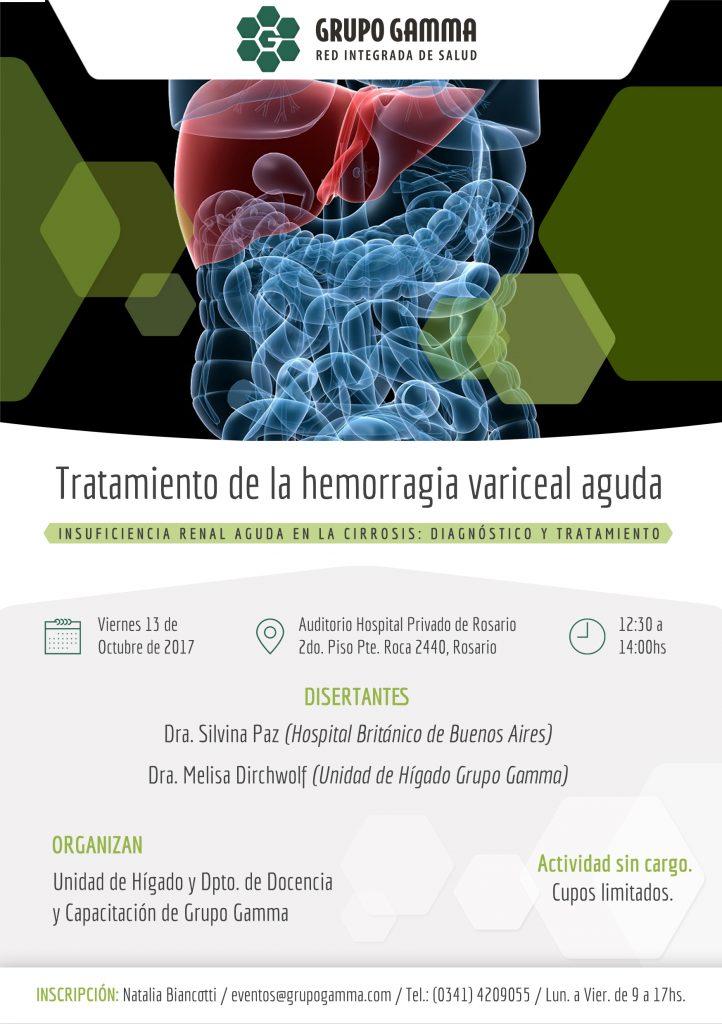 Charla para Profesionales: Hemorragia Variceal Aguda | Grupo Gamma