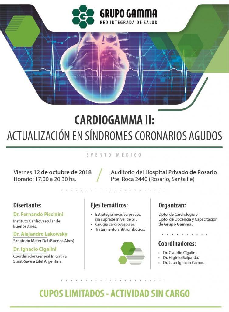 CardioGamma II - Actualización en Síndrome Coroanrio Agudo - Grupo Gamma - web