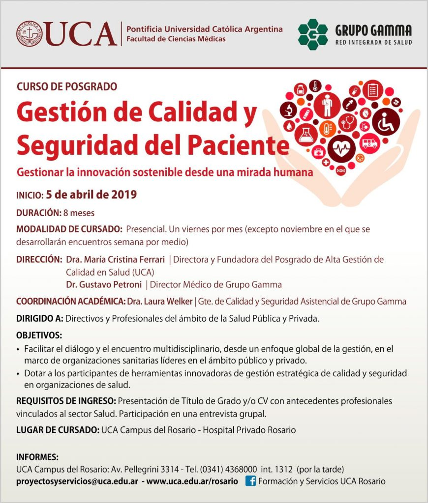 Curso de Gestión de Calidad y Seguridad del Paciente- Grupo Gamma